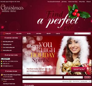 Thiết kế website dịch vụ quà tặng Noel