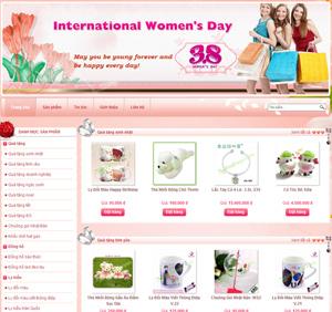 Thiết kế website dịch vụ quà tặng tình yêu