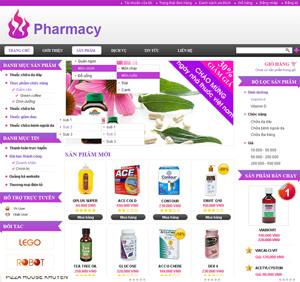 Thiết kế website dịch vụ thuốc