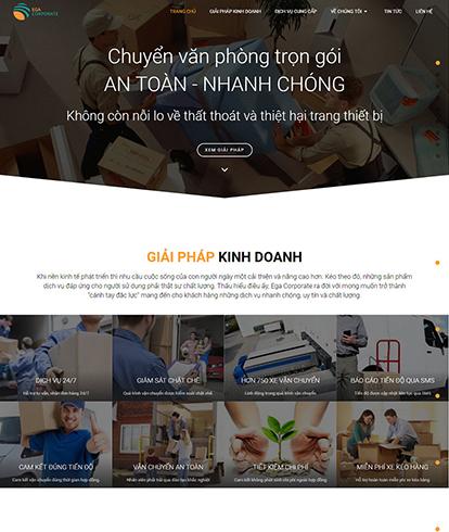 Thiết kế Website Dịch vụ vận chuyển Corporate