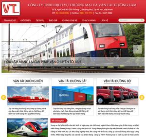 Thiết kế website dịch vụ vận tải Hoa Lâm