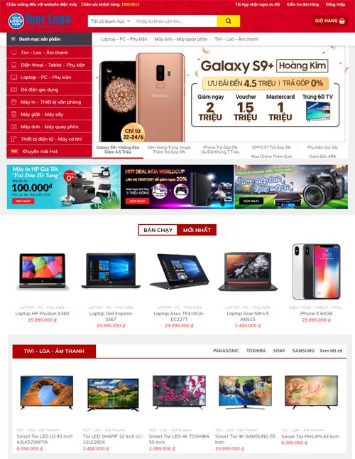 Thiết kế website điện máy chuyên nghiệp