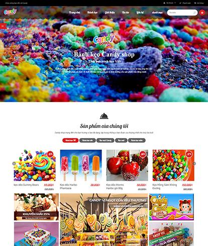 Thiết kế website đồ ăn Candy Store