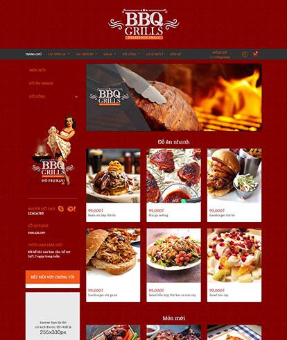 Thiết kế website đồ ăn và uống BBQ Grills