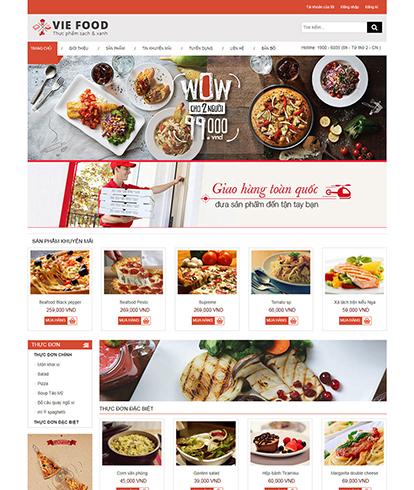 Thiết kế website đồ ăn Vie Food