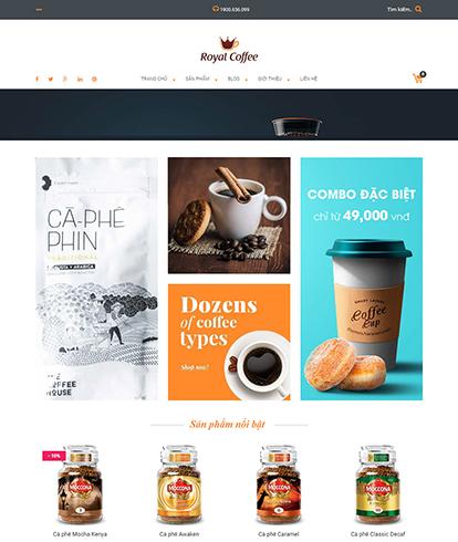 Thiết kế website đồ uống Royal Coffee