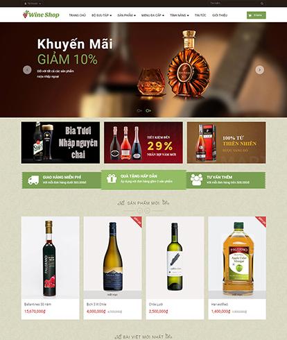 Thiết kế website đồ uống rượu Ap Wine