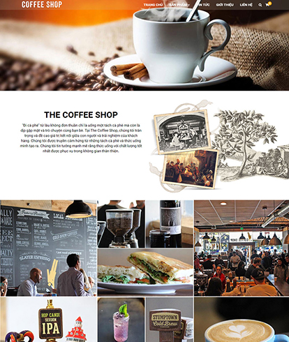 Thiết kế website đồ uống The Coffee shop