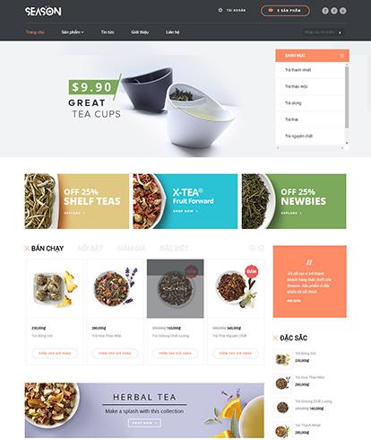 Thiết kế website đồ uống trà Season
