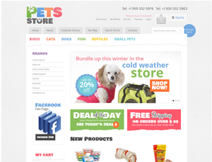 Thiết kế website động vật - thú nuôi 2