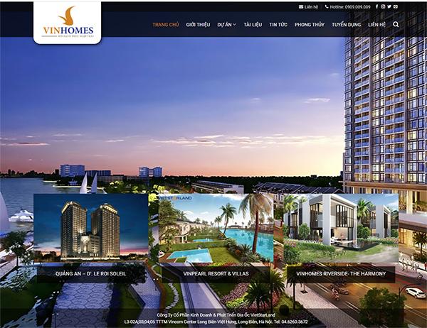 Thiết kế website dự án bất động sản - Mẫu số 4