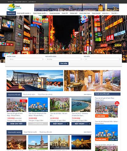 Thiết kế website du lịch EGA Travel