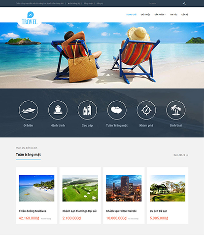 Thiết kế Website Du lịch Travel