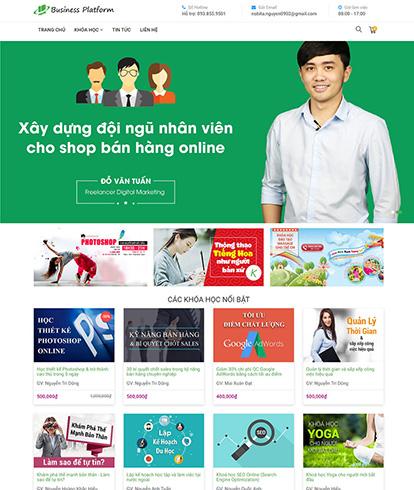 Thiết kế website giáo dục Business Platform