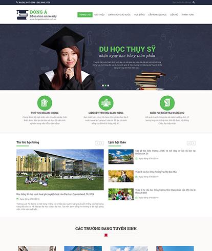 Thiết kế website Giáo dục Đông Á