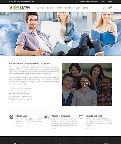 Thiết kế website Giáo dục Edu learn