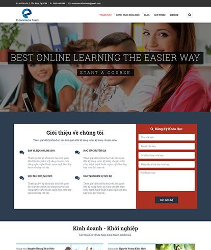 Thiết kế website giáo dục Education