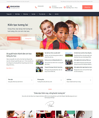Thiết kế website giáo dục Education Course