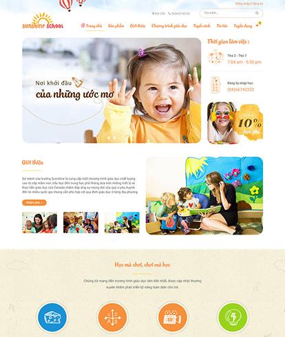 Thiết kế website Giáo dục SunShine School