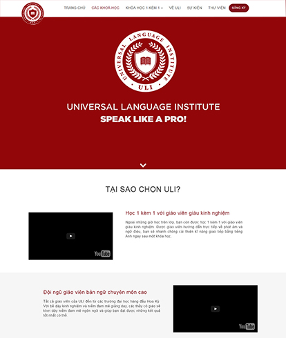 Thiết kế website giáo dục ULI