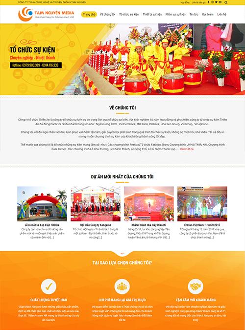 Thiết kế website giới thiệu công ty chuyên nghiệp
