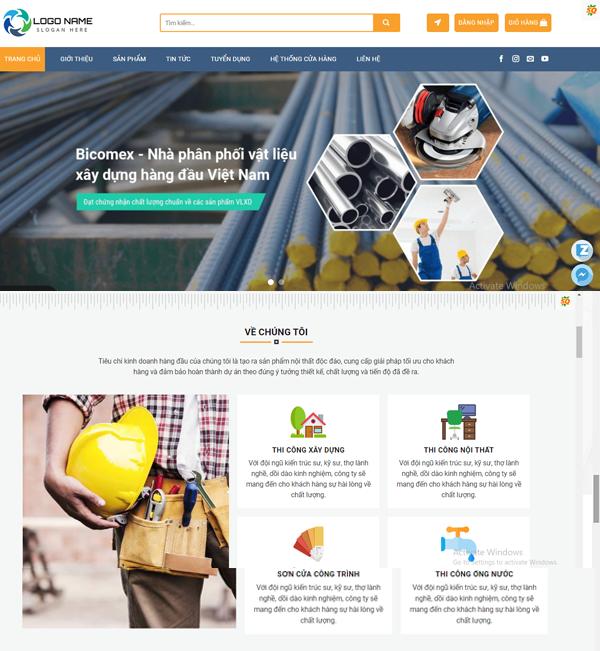 Thiết kế website giới thiệu công ty xây dựng