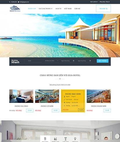 Thiết kế Website Khách sạn EGA Hotel