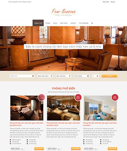 Thiết kế website khách sạn Four Seasons