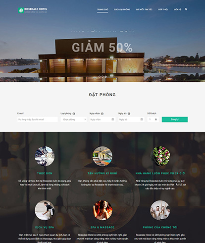Thiết kế website khách sạn Rosedale hotel