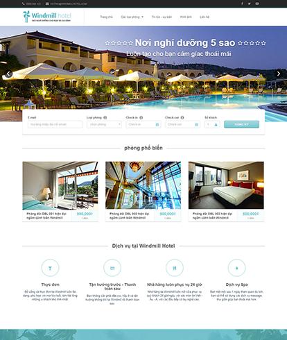 Thiết kế website khách sạn Windmill Hotel
