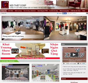 Thiết kế website kiến trúc - Nội thất Cosp
