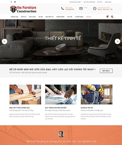 Thiết kế website kiến trúc The Furniture Construction