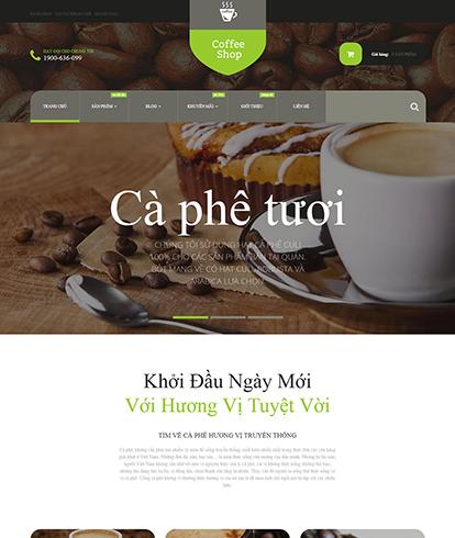 Thiết kế website kinh doanh cà phê Coffee Store
