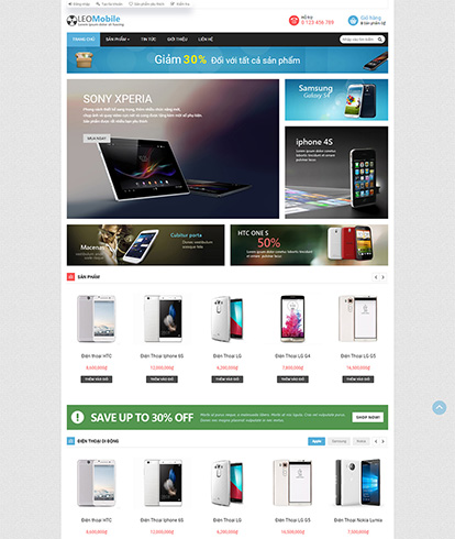 Thiết kế website kinh doanh đồ công nghệ thế giới mobile