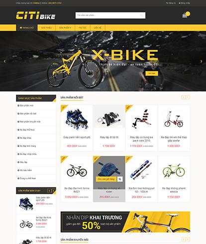 Thiết kế website kinh doanh đồ thể thao SixBike