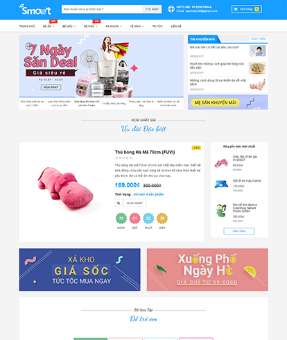 Thiết kế Website Kinh doanh Đồ trẻ em Mua sắm Thông minh - Smart