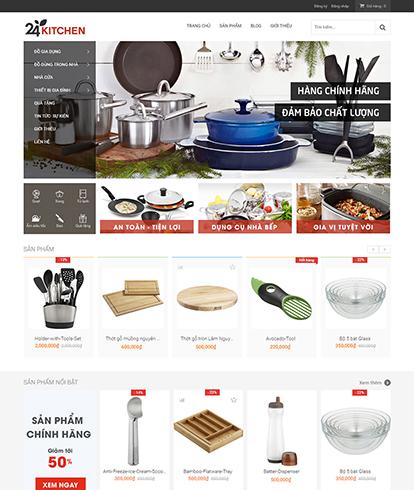 Thiết kế website kinh doanh dụng cụ nhà bếp 24kitchen