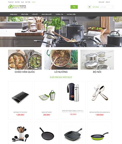 Thiết kế website kinh doanh dụng cụ nhà bếp Housewares