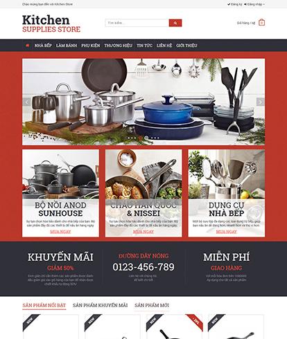Thiết kế website kinh doanh dụng cụ nhà bếp kitchen store