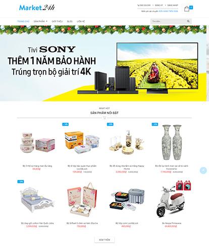 Thiết kế website kinh doanh market24