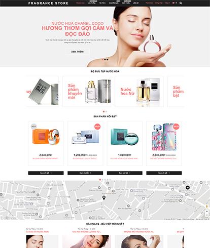 Thiết kế website kinh doanh mỹ phẩm Fragrance Store