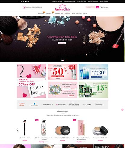 Thiết kế website kinh doanh mỹ phẩm Jessica Clinic