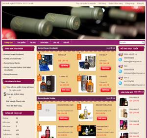 Thiết kế website kinh doanh rượu trực tuyến
