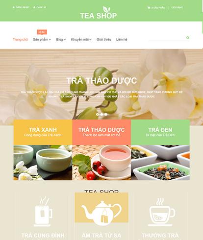 Thiết kế website kinh doanh trà Tea Shop