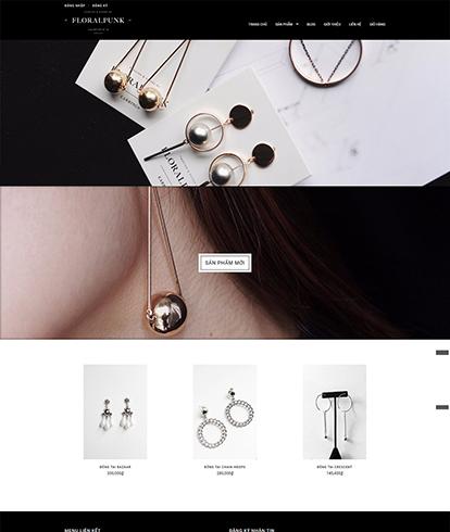 Thiết kế website kinh doanh trang sức Floral Punk