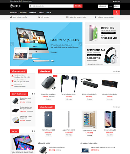 Thiết kế website máy tính Accent