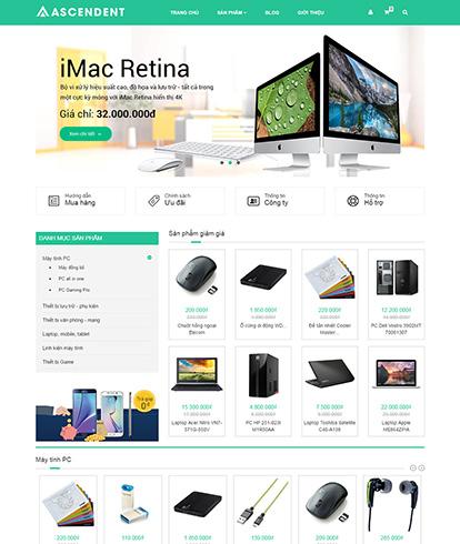 Thiết kế website máy tính Ascendent
