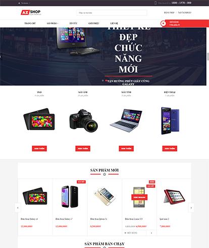 Thiết kế Website máy tính Electronic AZ Shop