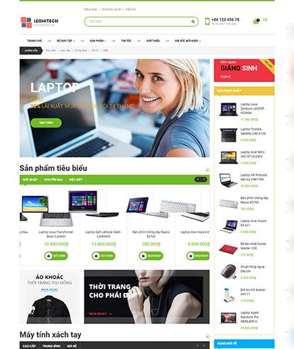 Thiết kế Website máy tính Leo Hitech