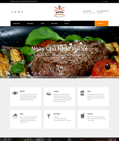 Thiết kế website nhà hàng Bistro